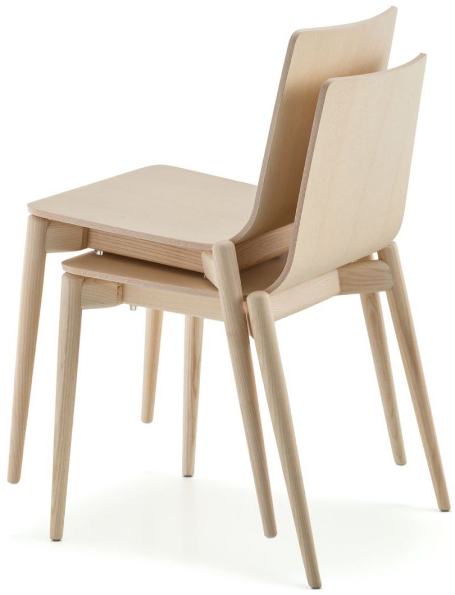 Pgr pedrali malmo 390 chair pgr furniture for Valet chaise bois